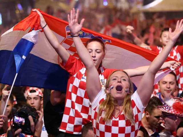 Festejos, plaza de Ban Jelacic, Selección Croacia, pase, finla, Copa del Mundo, Rusia 2018, Futbol