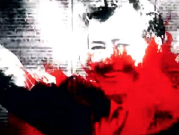 Ilustraciómn del rostro de Colosio en blanco negro y rojo
