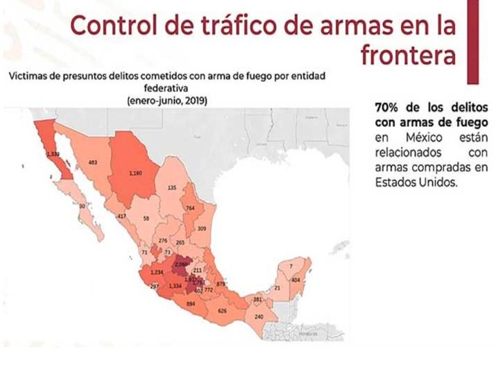 Control de tráfico de armas en la frontera con EU