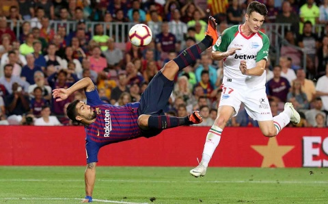 Barcelona, Suárez, Alavés, Messi,