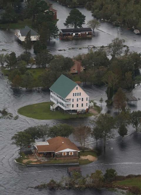 Así lucen los daños en Carolina del Sur y Carolina del Norte por 'Florence'