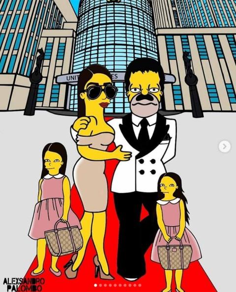 Emma y'El Chapo' al lado de sus hijas
