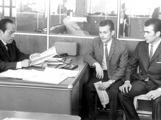 El 5 de septiembre de 1968 se publicó la información de que familiares del estudiante del IPN Prócoro Quevedo Robles (izquierda) denunciaron que había sido secuestrado. Ricardo y Óscar Quevedo Robles (derecha) acudieron a la Procuraduría del Distrito para informar cómo fue secuestrado su hermano.