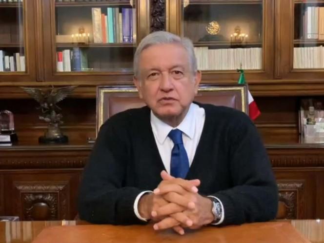 López Obrador resaltó que una de las ventajas que tienen los empresarios es que desde el gobierno se apoyará con políticas arancelarias y créditos. Foto: Captura de pantalla