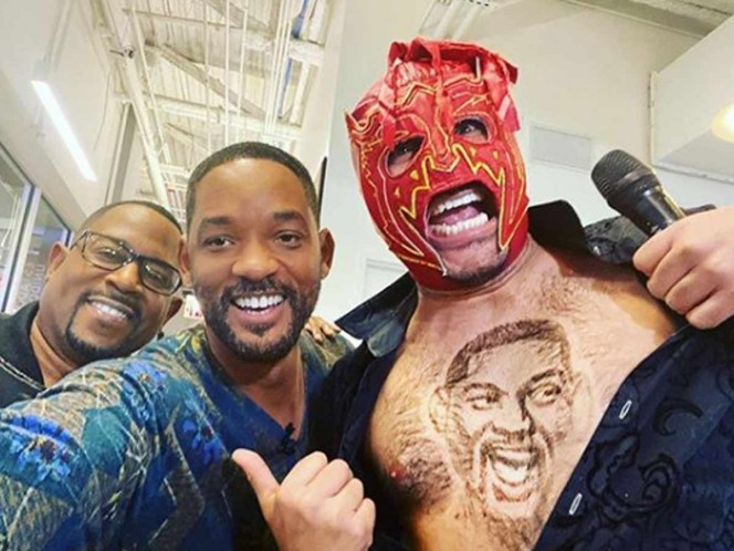 Will Smith was joined by The Scorpion Dorado and Martin Lawrence. Photo Instagram: willsmith