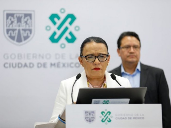The Secretary of the Government, Rosa Icela Rodríguez, presented the protocol for the management of people killed by Covid-19. Photo: CDMX Government