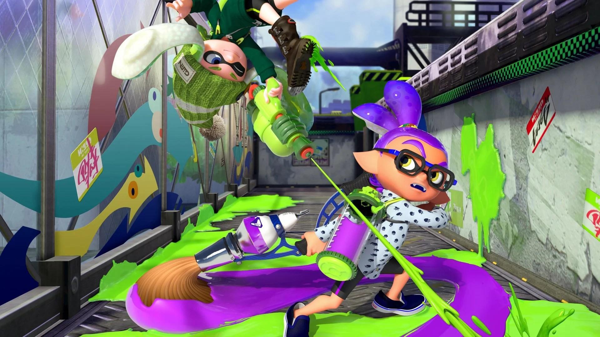 Squid Girl Iphone Wallpaper Splatoon Wii U Review Nintendo S Inkredible New
