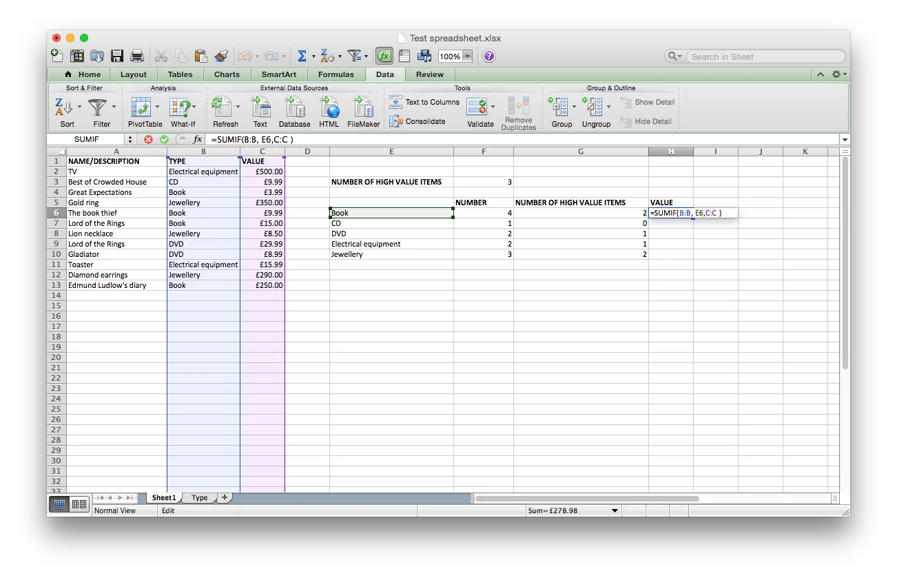 How To Use The Excel Sumif Formula