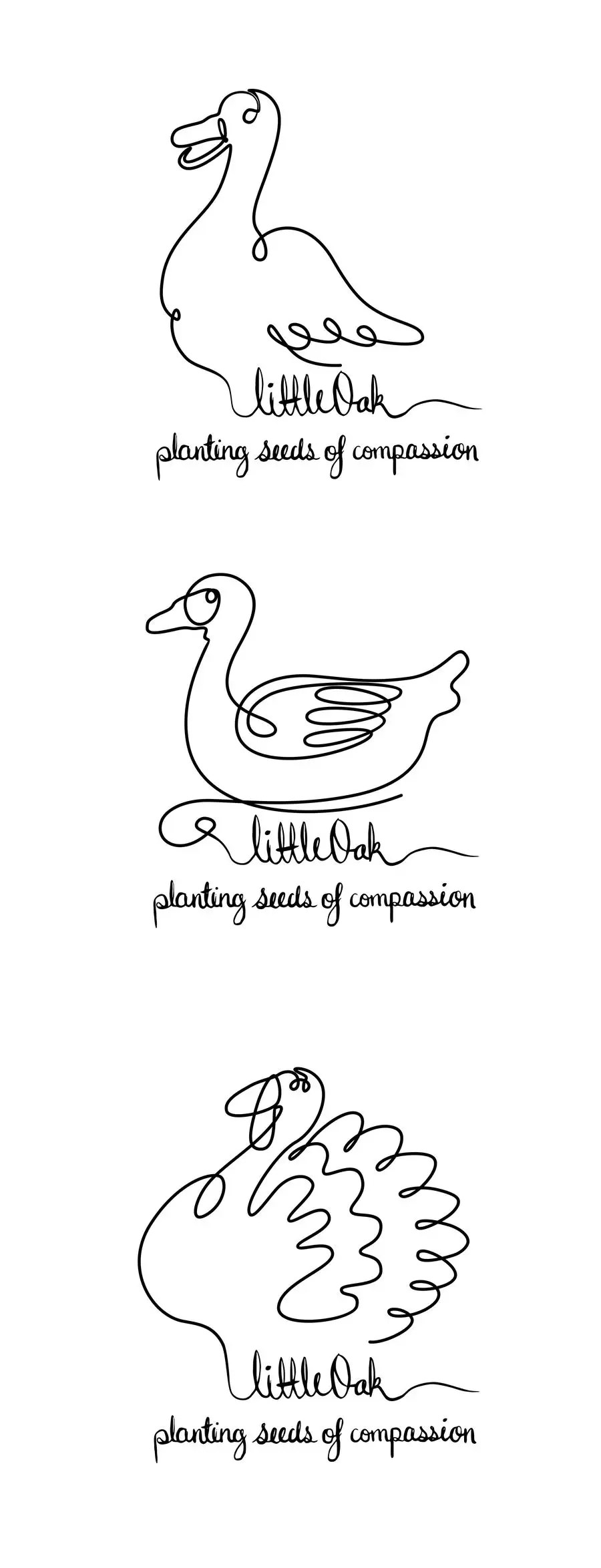 Entry #10 by huangnengji for Single line drawings of duck
