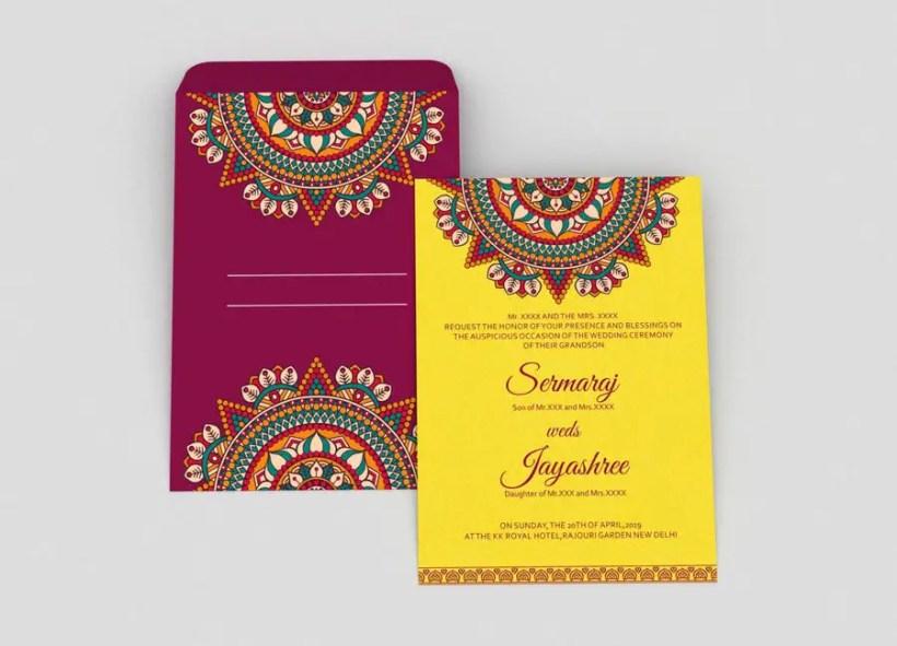 Contest Entry 10 For Hindu Wedding Invitation Card Design