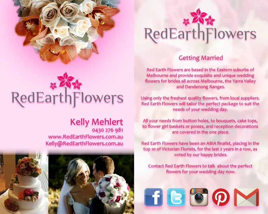 DL Colour Flyer Design For Wedding Florist Freelancer