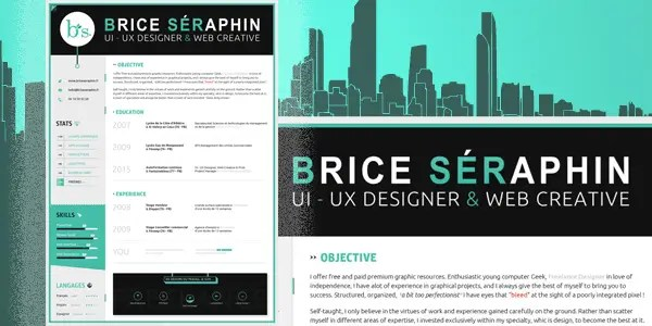 20 resume design tips and examples freelancer blog. Black Bedroom Furniture Sets. Home Design Ideas