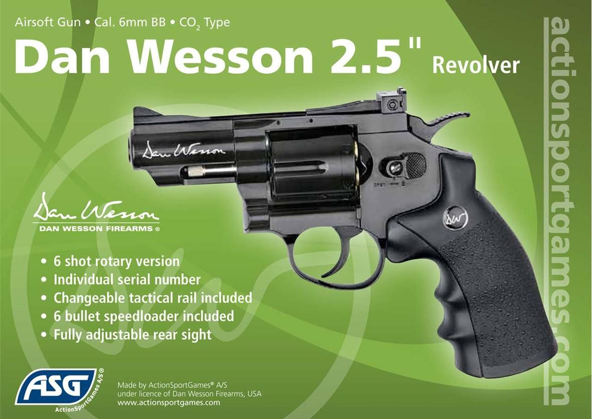 Dan Wesson CO2 Revolver Black 25 Inch  Actionhobbiescouk