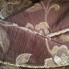 Chair Cushions With Tie Backs Bjorn High Changingbedrooms.com Belgravia Chocolate Brown Heavy Floral Jacquard Tailor Made Tape Top ...