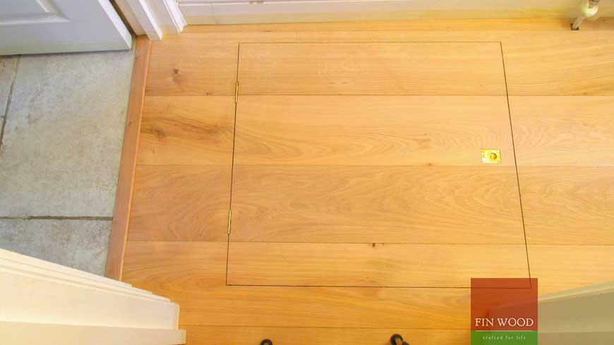 Access Panel in wooden floors