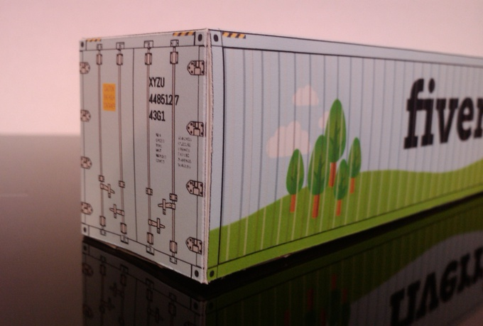 papercraft-shipping container-papertrucklogo