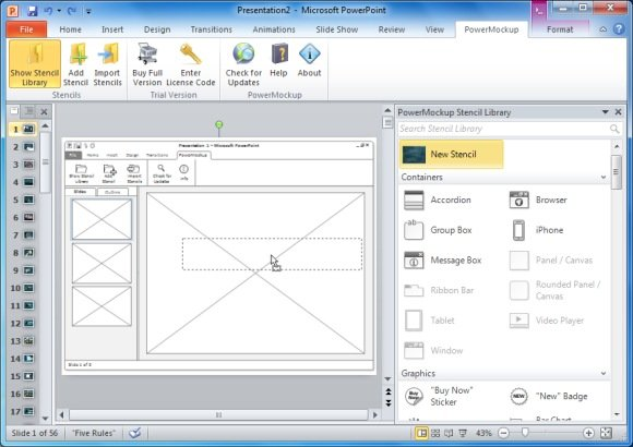 Sketch Wireframes Of Websites In MS PowerPoint With PowerMockup PowerPoint Presentation