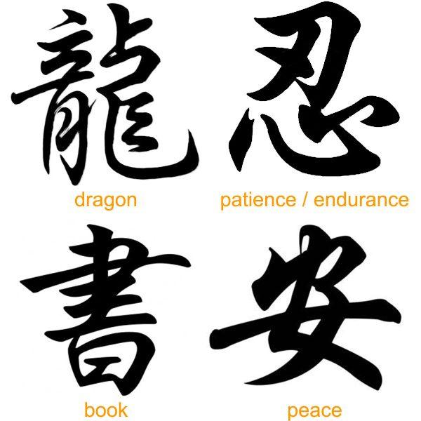 Beautiful Chinese Japanese Kanji Tattoo Symbols & Design