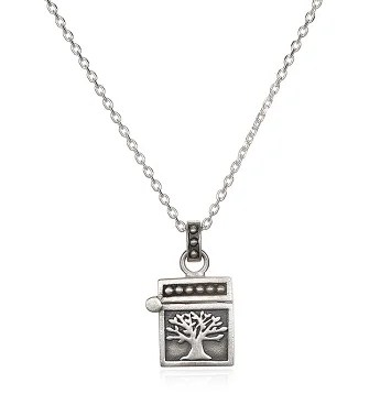 Tree of Life Prayer Box Locket Necklace