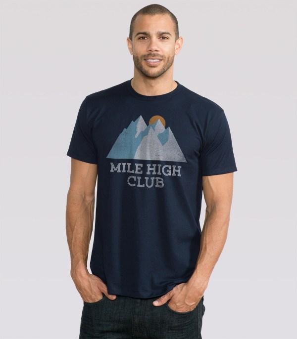 Mile High Club Men' T-shirt Headline Shirts