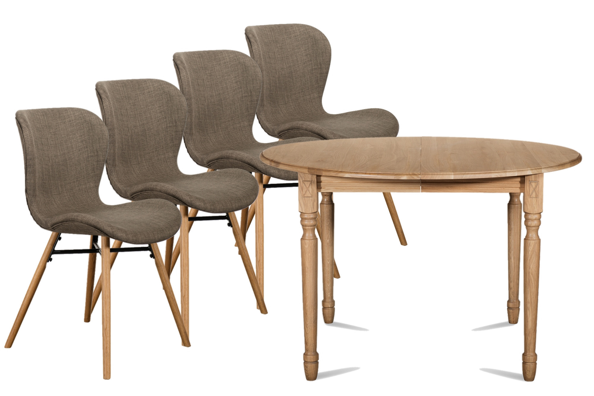 table ronde extensible victoria 4 chaises matilda hellin