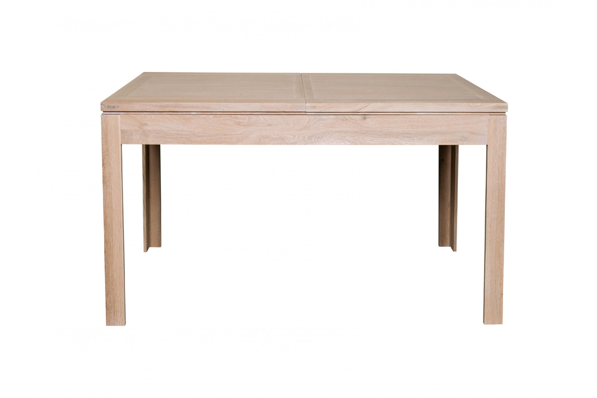 occasion table carree extensible en chene massif blanchi hellin