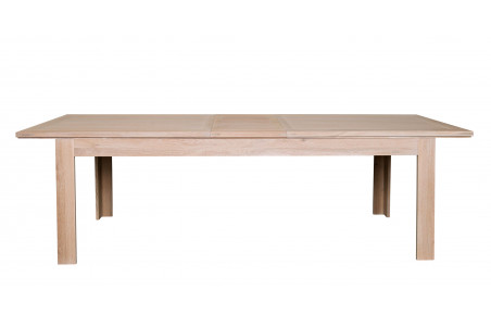 table moderne extensible boston l200 280 bois chene blanchi massif