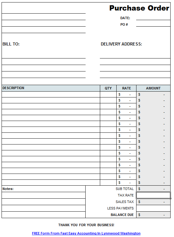 Free Construction Change Order Template From Fast Easy Accounting ...