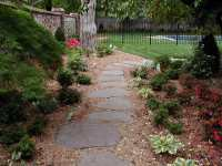 Backyard Landscape hardscape ideas in Tulsa