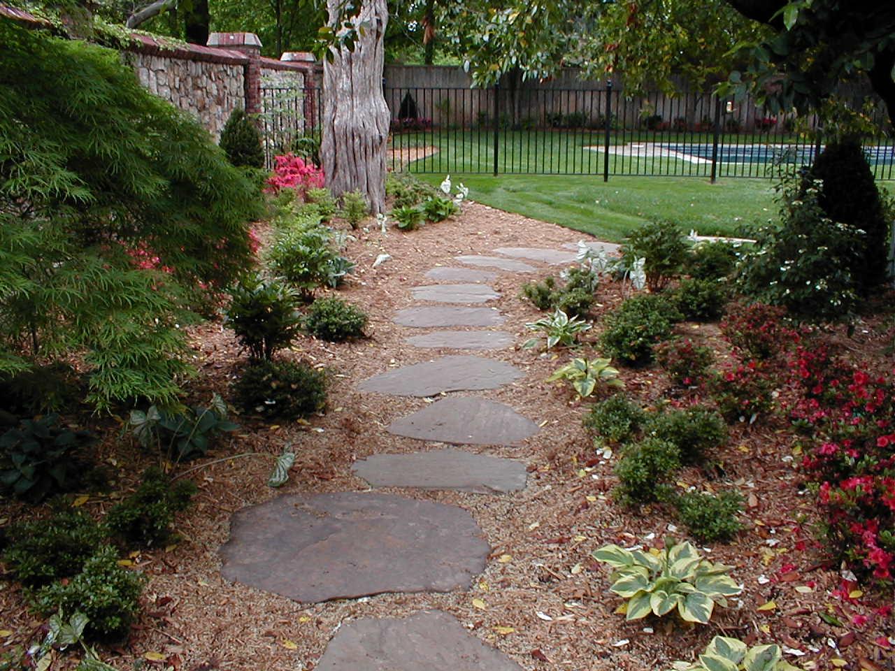 backyard landscape hardscape ideas