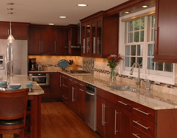 l shaped kitchen island with cabinets and design 4 Design Options for Kitchen Floor Plans