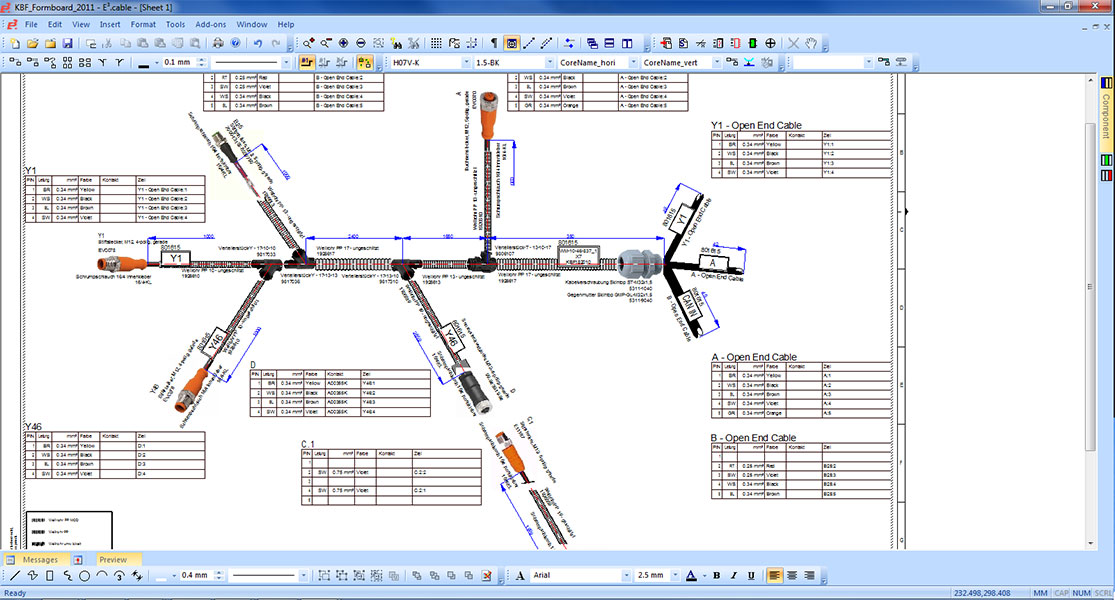 Electrical Harness Design Software E3 Cable