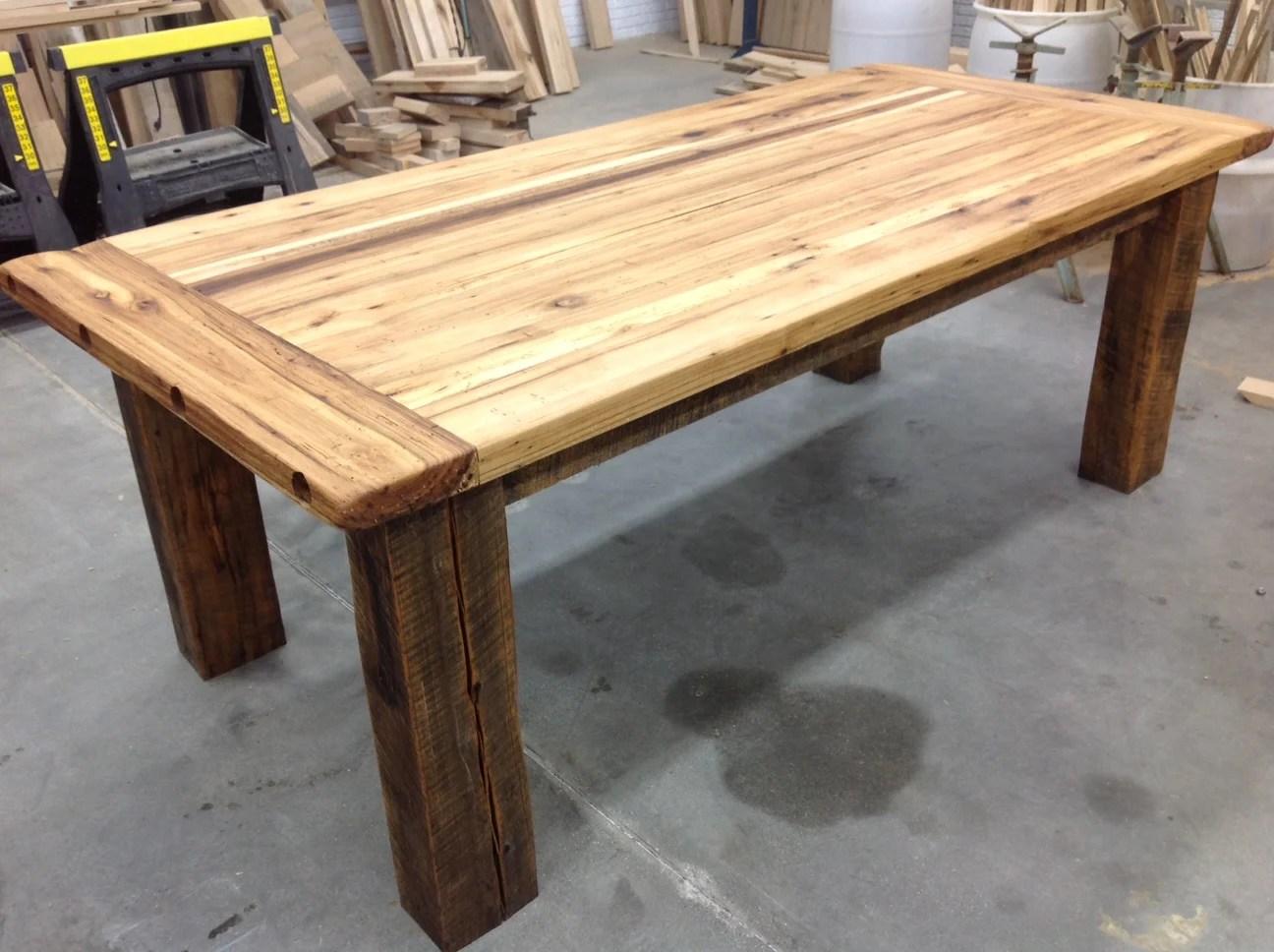 hickory farm table side left reclaimed wood michigan jpg - Hickory Farm Table Side Left Reclaimed Wood Michigan Jpg Designmore