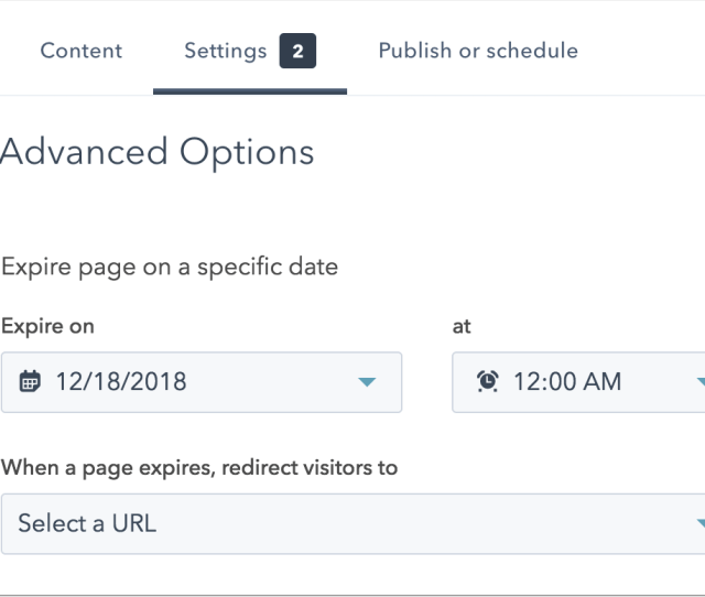 After The Expiration Date And Time The Page Will Change From Published To Draft Status In Your Landing Pages Or Website Pages Dashboard
