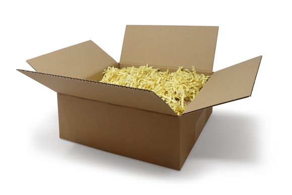 Shredded paper is an economical packaging void fill method. green and eco-friendly.