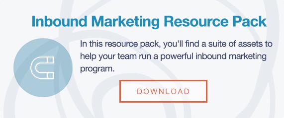 inbound marketing resource pack