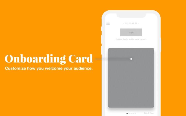 onboarding card