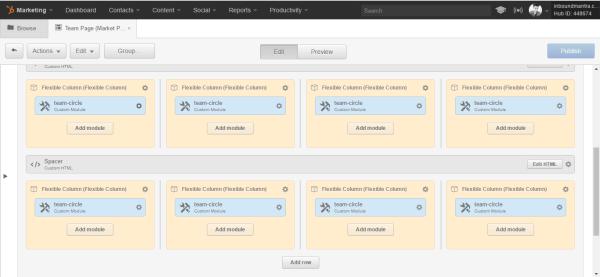 Hubspot Templates html section