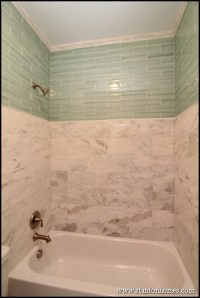 Tile Bathtub Surrounds | White, Black, and Gray Tile Designs