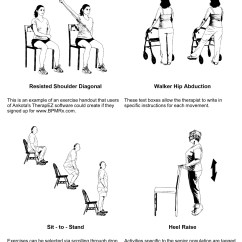 Chair Exercises For Seniors Handout Executive Arm Covers Home Health Therapy Pt Ot Exercise Programs
