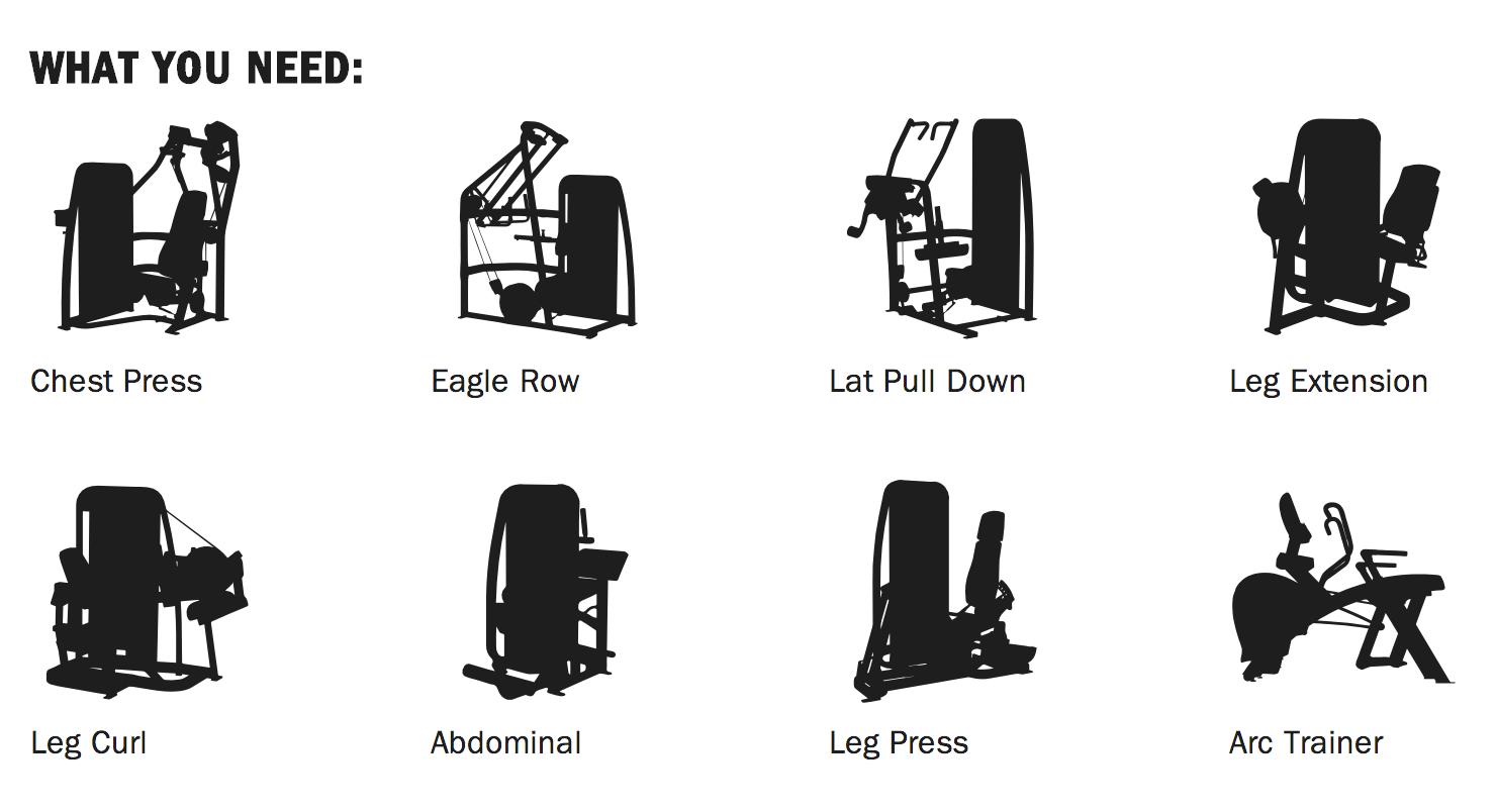 Cybex Machine Workout Plan
