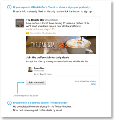 4 Ways Hotels Can Use Social Media to Grow their Email List Uncategorized Social Media for Hospitality  twitter-card-example