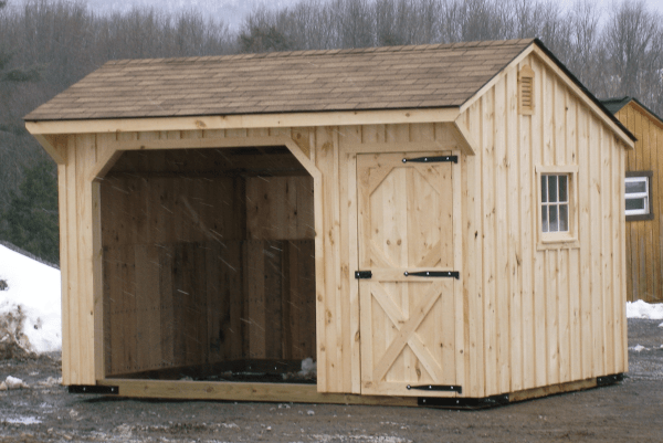 how to build a loafing shed for horses