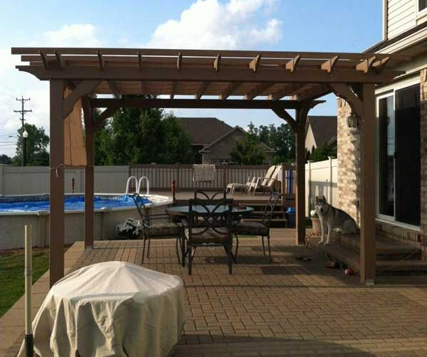 Amish Built Wood Pergola Kits With Fast Free Delivery