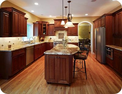 Kitchen Cabinets Same Color As Wood Floor
