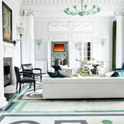 Blue Persian Rug Living Room Simple White Architectural Digest February 2016: 6 Best Rooms With ...