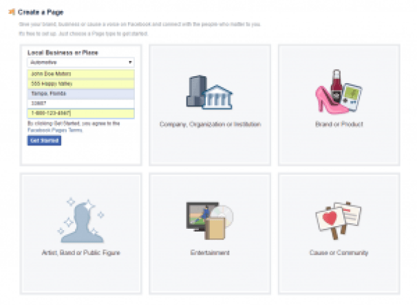 Facebook Local Business of Place signup part 2