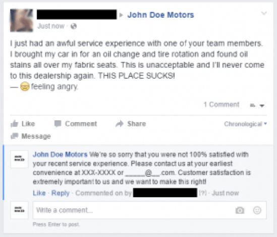 Fake Customer Comments2 redacted - internetiquette