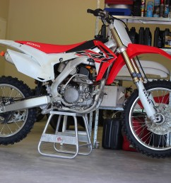 from the frame up would ve been too costly so justin sold the motor out of his 2014 crf250r and began fabrication to fit the cr250 engine  [ 5184 x 3456 Pixel ]