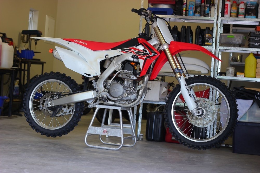 medium resolution of  from the frame up would ve been too costly so justin sold the motor out of his 2014 crf250r and began fabrication to fit the cr250 engine